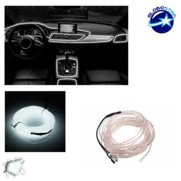 Εύκαμπτο φωτιζόμενο καλώδιο Neon Ψυχρό Λευκό GloboStar 08000