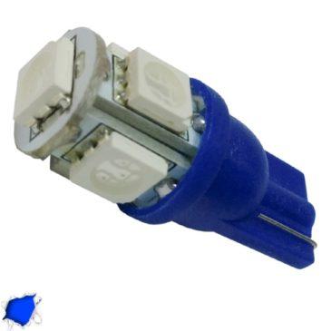 Λαμπτήρας LED T10 με 5 SMD 5050 Μπλε GloboStar 90353