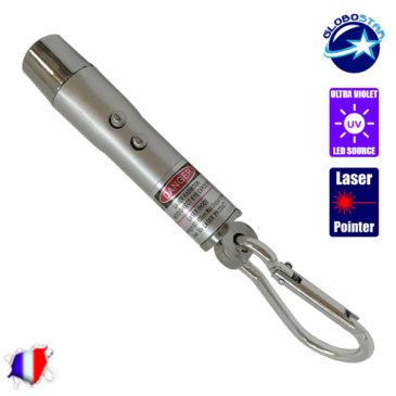 Μπρελόκ Φακός LED με Laser Point και UV για Έλεγχο Χαρτονομισμάτων GloboStar 06205