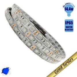 Ταινία LED 14.4 Watt 12 Volt Μπλε IP65 Αδιάβροχη GloboStar 37930