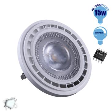 Λαμπτήρας LED AR111 12 Μοίρες 15 Watt 230v Ψυχρό Dimmable GloboStar 01769