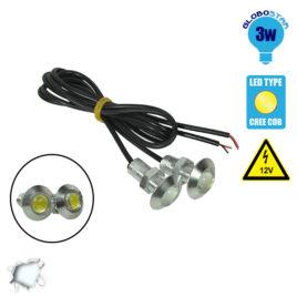 Σετ Φωτισμού LED Πινακίδας ή DRL για Αυτοκίνητα 3 Watt 12 Volt Ψυχρό Λευκό GloboStar 55202
