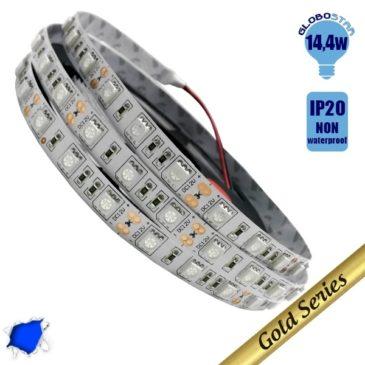 Ταινία LED 14.4 Watt 12 Volt Μπλε IP20 GloboStar 04240
