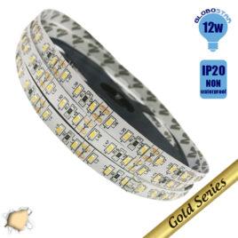 Ταινία LED 120 smd 3014 12 Watt 12 Volt Θερμό Λευκό IP20 GloboStar 63018