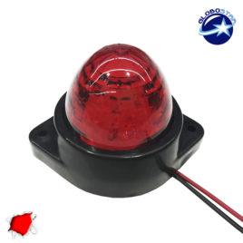 LED Πλευρικά Φώτα Όγκου Φορτηγών BULLET IP66 6 SMD 24 Volt Κόκκινο GloboStar 75481