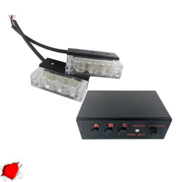 Εξωτερικά Φώτα Πυροσβεστικής STROBO LED 2×1 6W 10-30V IP65 Αδιάβροχα Κόκκινο GloboStar 88944