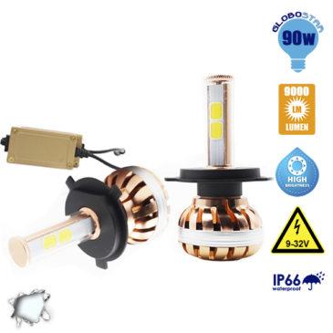 LED HID KIT H4 55 Watt 4500-5800 Lumen 9-32 Volt DC 6000k GloboStar 99702
