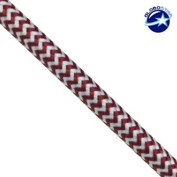 Στρογγυλό Υφασμάτινο Καλώδιο 2 x 0.75mm² Dublo Άσπρο Κόκκινο GloboStar 80004