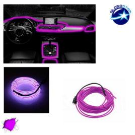 Εύκαμπτο φωτιζόμενο καλώδιο Neon Μωβ GloboStar 08007