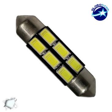 Σωληνωτός LED PCB 36mm με 6 SMD 5630 Samsung Chip Λευκό 6000k GloboStar 40180