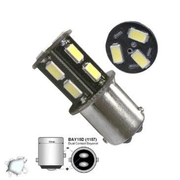 Λαμπτήρας LED 1157 13 SMD 5630 Ψυχρό Λευκό GloboStar 45622