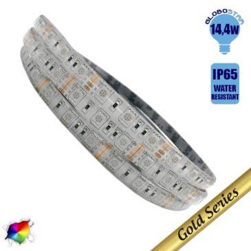 Ταινία LED 14.4 Watt 12 Volt RGB IP65 Αδιάβροχη GloboStar 56250