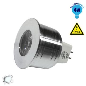 Σποτάκι LED MR11 4 Watt 10-30 Volt Ψυχρό Λευκό GloboStar 88959
