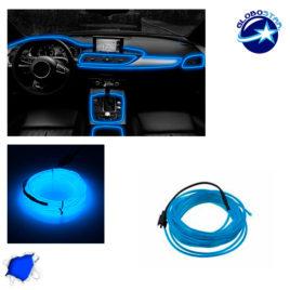 Εύκαμπτο φωτιζόμενο καλώδιο Neon Μπλε GloboStar 08005
