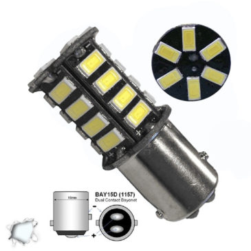 Λαμπτήρας LED 1157 30 SMD 5630 Ψυχρό Λευκό GloboStar 77379