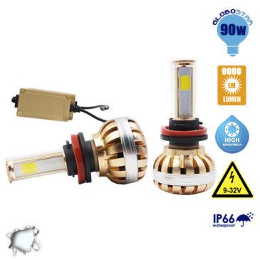 LED HID KIT H9 45 Watt 4500 Lumen 9-32 Volt DC 6000k GloboStar 99707