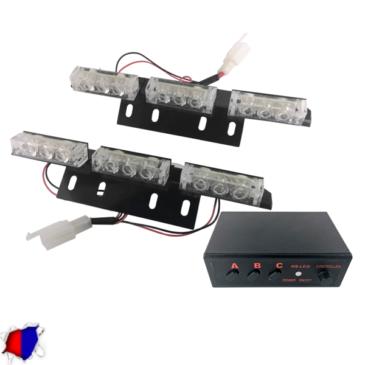 Εξωτερικά Φώτα Αστυνομίας STROBO LED 2×3 18W 10-30V IP65 Αδιάβροχα Μπλε & Κόκκινο GloboStar 17940