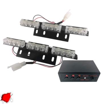 Εξωτερικά Φώτα Πυροσβεστικής STROBO LED 2×3 18W 10-30V IP65 Αδιάβροχα Κόκκινο GloboStar 88983
