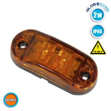 Πλευρικό LED Όγκου – Flash 10-30 Volt Πορτοκαλί GloboStar 77488