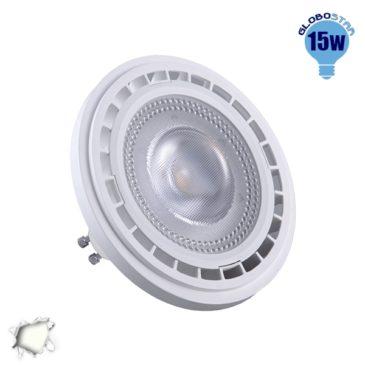 Λάμπα LED AR111 GU10 Σποτ 15W 230V 1480lm 12° Φυσικό Λευκό 4500k GloboStar 01767