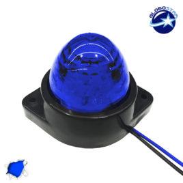 LED Πλευρικά Φώτα Όγκου Φορτηγών BULLET IP66 6 SMD 24 Volt Μπλε GloboStar 75483
