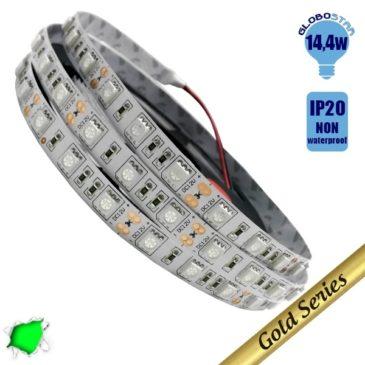 Ταινία LED 14.4 Watt 12 Volt Πράσινο IP20 GloboStar 93240