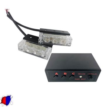 Εξωτερικά Φώτα Αστυνομίας STROBO LED 2×1 6W 10-30V IP65 Αδιάβροχα Μπλε & Κόκκινο GloboStar 33533
