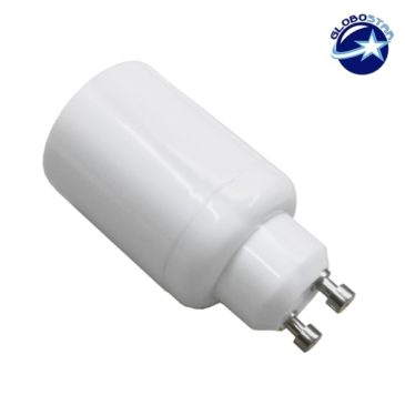 Πλαστικός Αντάπτορας από GU10 σε E27 GloboStar 01527