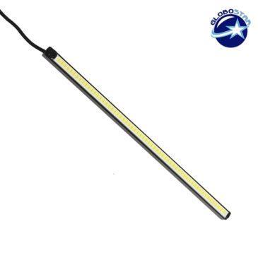 Μονή LED DRL Μπάρα Στεγανή Αλουμινίου με COB LED 6 Watt 6000k GloboStar 77363