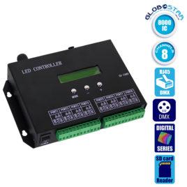 LED Digital Controller T8000PRO 8000 IC DMX512 SD CARD Profesional Series GloboStar 88771