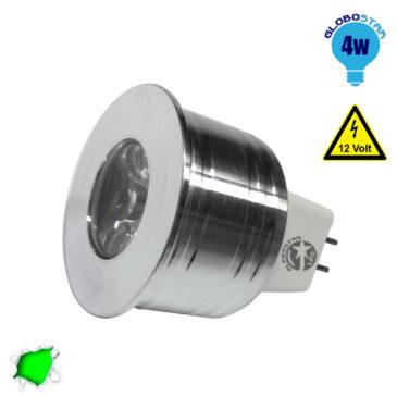 Σποτάκι LED MR11 4 Watt 10-30 Volt Πράσινο GloboStar 88962