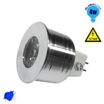 Σποτάκι LED MR11 4 Watt 10-30 Volt Μπλε GloboStar 88963