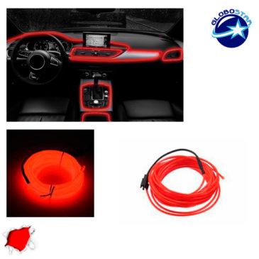 Εύκαμπτο φωτιζόμενο καλώδιο Neon Κόκκινο GloboStar 08006