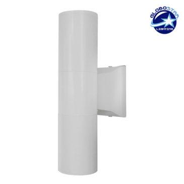 Φωτιστικό Τοίχου Wally Λευκό Αλουμινίου IP65 Up / Down Gu10 GloboStar 90082