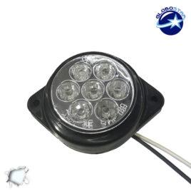 LED Πλευρικά Φώτα Όγκου Φορτηγών BULLET IP66 7 SMD 24 Volt Ψυχρό GloboStar 75485