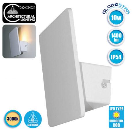 LED Φωτιστικό Τοίχου Απλίκα Αρχιτεκτονικού Φωτισμού Square Back Light Λευκό IP54 10 Watt 60° 1400lm 230V CREE Θερμό Λευκό GloboStar 93050