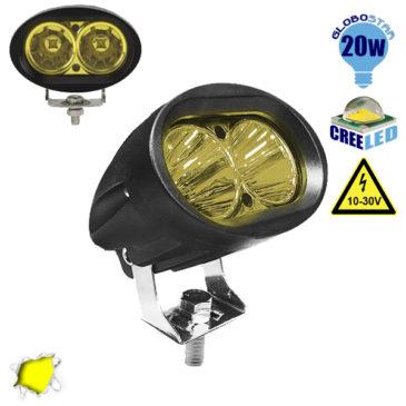 Προβολάκι LED 20 Watt 10-30 Volt DC Κίτρινο GloboStar 05196