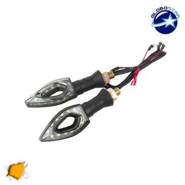LED Φλάς Σετ 2 Τεμαχίων Μοτοσυκλέτας Universal Arrow με 12 Smd Πορτοκαλί GloboStar 44541