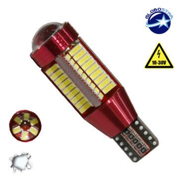Λαμπτήρας LED T10 Can Bus με 78 SMD 4014 10-30v 6000k GloboStar 40192