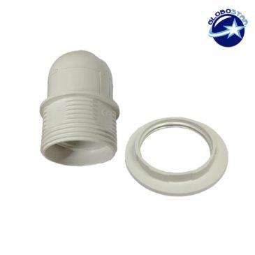ΣΕΤ Ντουί E27 με Ροδέλα Πλαστικό Λευκό DIY GloboStar 90018