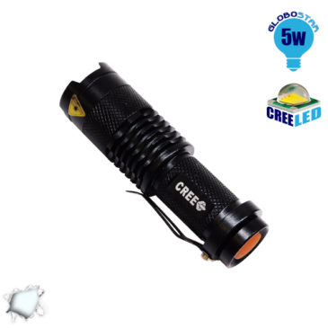 Φορητός Φακός CREE LED T6 3 Mode Zoom GloboStar 06202