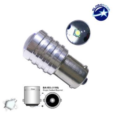 Λαμπτήρας LED 1156 1 CREE LED 10 Watt Ψυχρό Λευκό GloboStar 40141