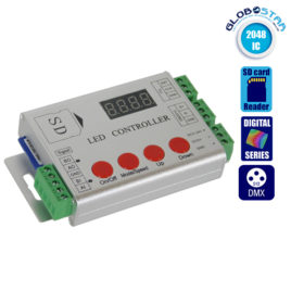 LED Digital Controller HC03 2048 IC DMX512 SD CARD Profesional Series GloboStar 88769
