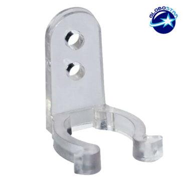 Πλαστική PVC Βάση Στήριξης για Φωτοσωλήνα LED GloboStar 22634