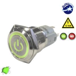 Διακοπτάκι LED ON/OFF 12 Volt DC Πράσινο GloboStar 05058