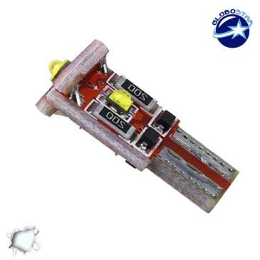 Λαμπτήρας LED T10 Can Bus με 3 CREE LED 12v 6000k GloboStar 40173
