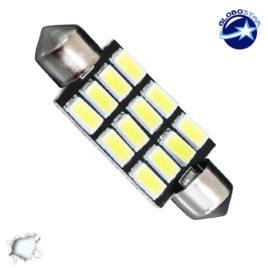 Σωληνωτός LED PCB 42mm με 12 SMD 5630 Samsung Chip Λευκό 6000k GloboStar 40182
