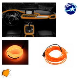 Εύκαμπτο φωτιζόμενο καλώδιο Neon Πορτοκαλί GloboStar 08001