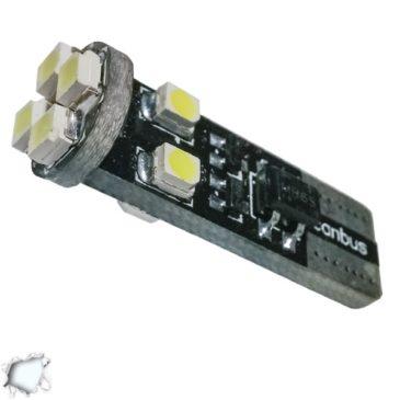 Λαμπτήρας LED T10 Can Bus με 8 SMD 1210 Ψυχρό Λευκό GloboStar 21150