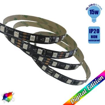 LED Digital Strip RGB 15 Watt 12 Volt DC IC3 GloboStar 88767
